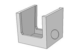 上ぶた式U形用分水桝