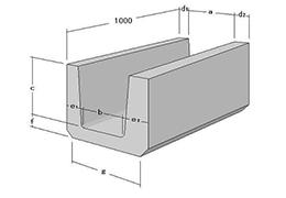 鉄筋コンクリート片圧U形